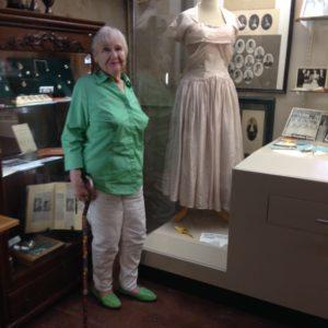Rita Overholser Forsett 1956 prom dress